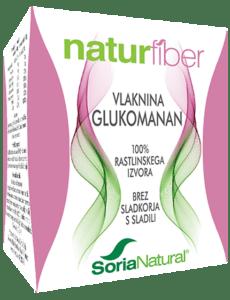 NATURFIBER Glukomanan za hujšanje Soria Natural
