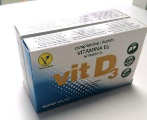Vitamin C in gratis vitamin D3 tablete
